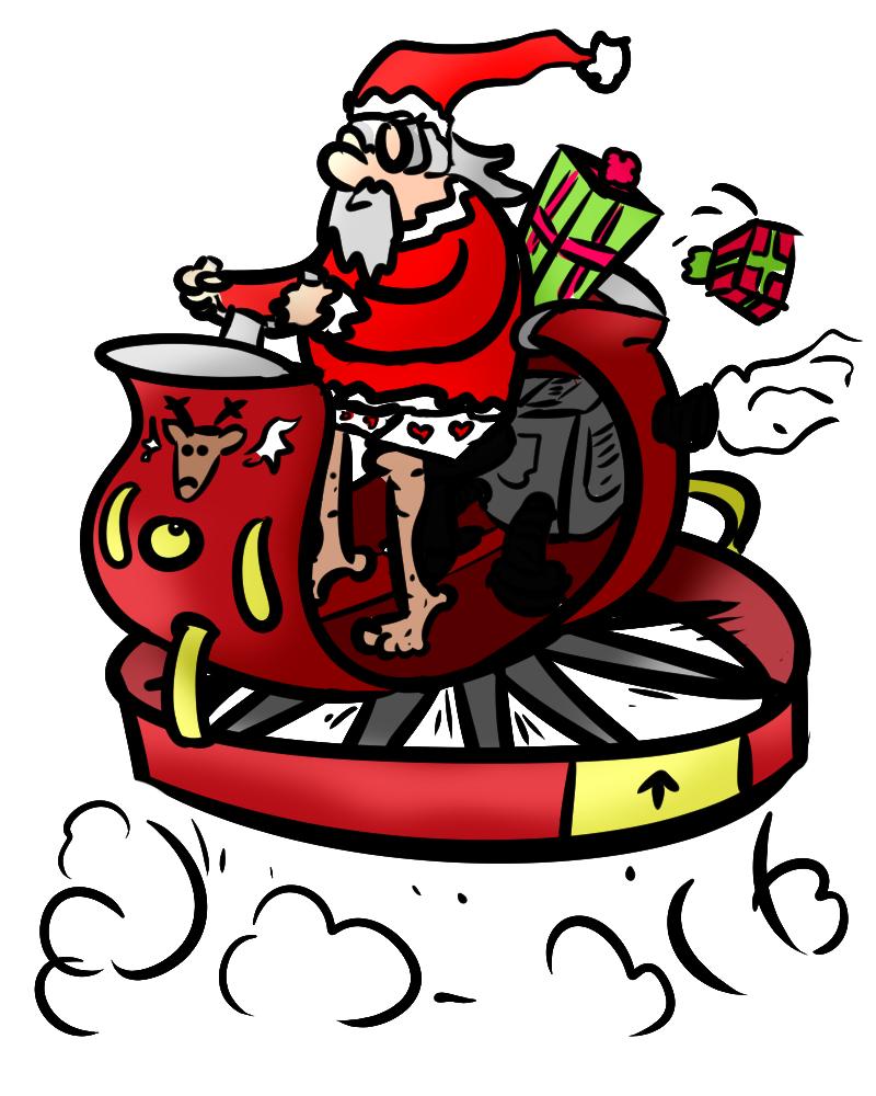 santa sled